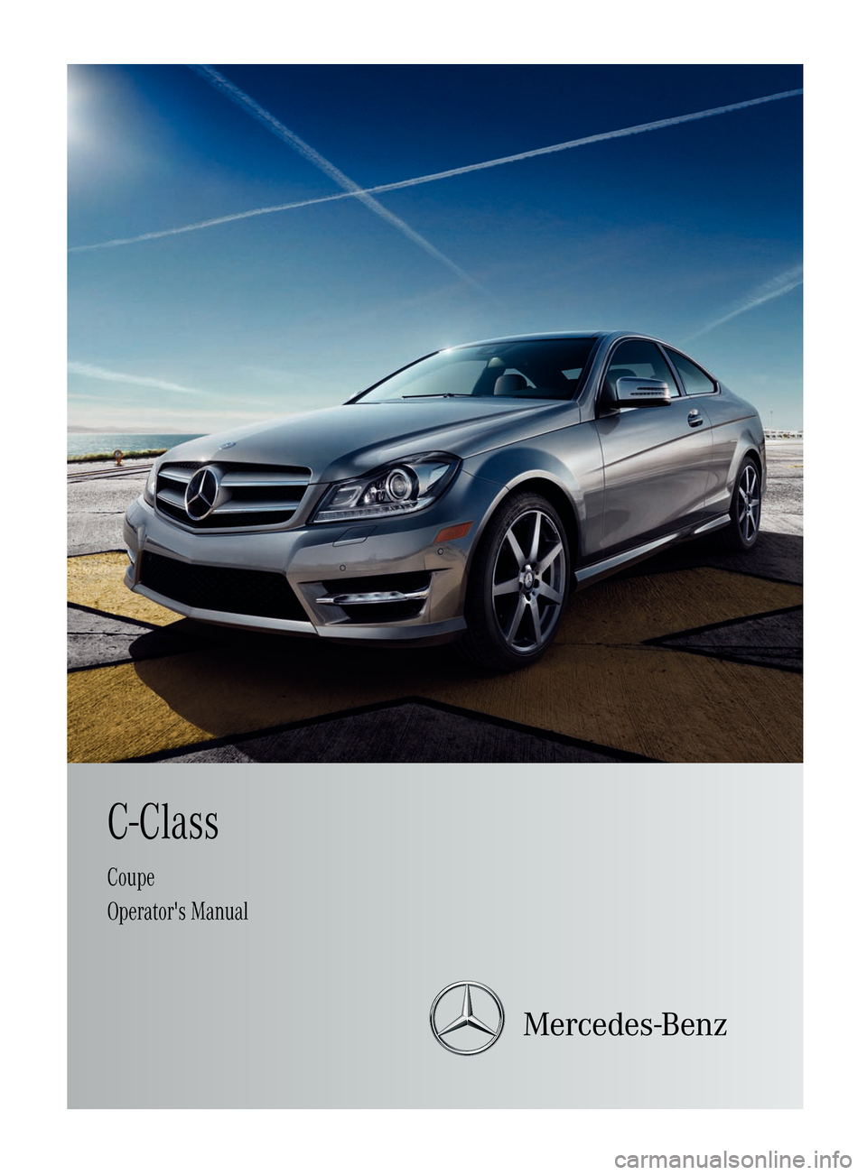 Mercedes Benz C Class Coupe 2012 Cl204 Owner S Manual
