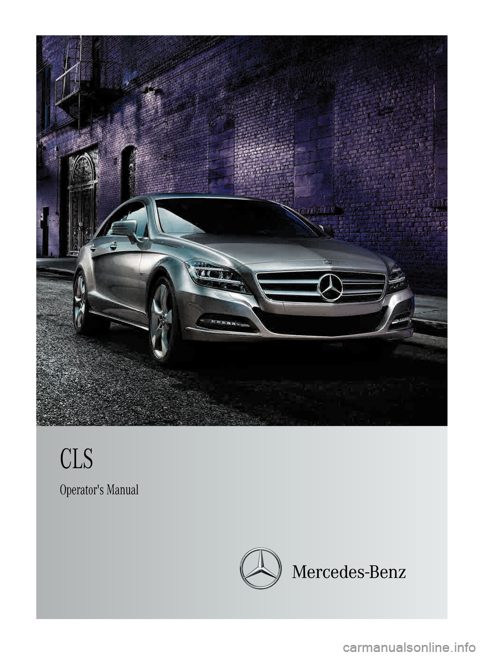 Mercedes benz cls class 2013 w218 owner 39 s manual for Mercedes benz manuals