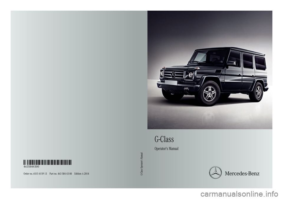MERCEDES-BENZ G-Class 2014 W463 Owners Manual, Page 1