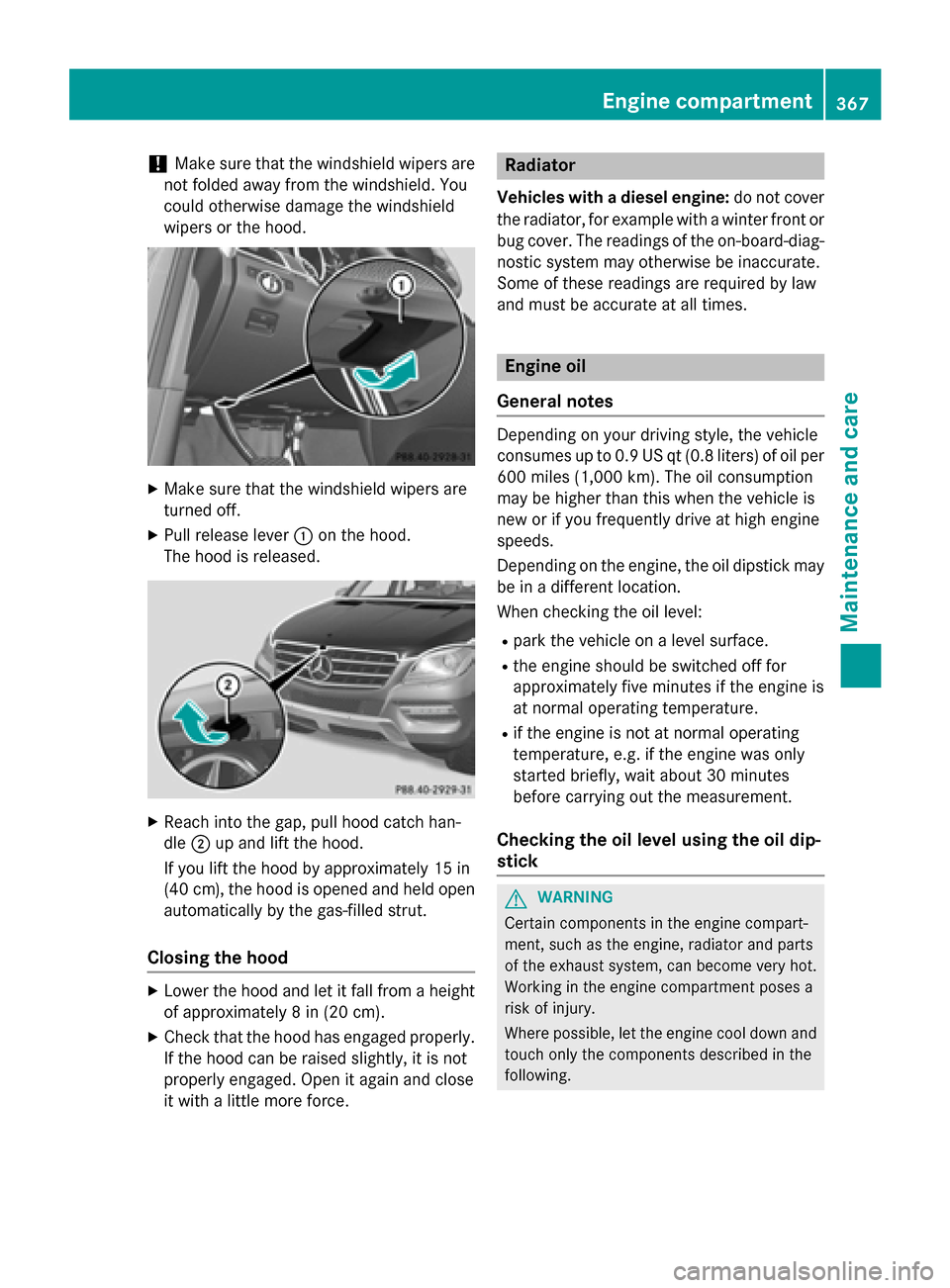 Check Engine Mercedes Benz M Class 2015 W166 Manual Pdf Page 369