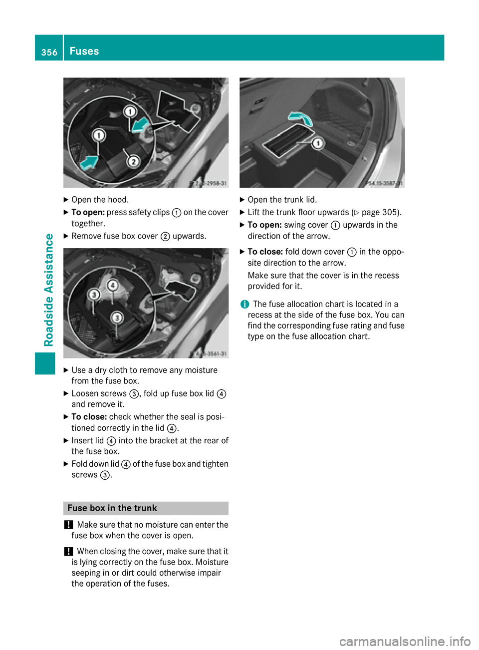 MERCEDES-BENZ C-Class SEDAN 2015 W205 Owners Manual, Page 358