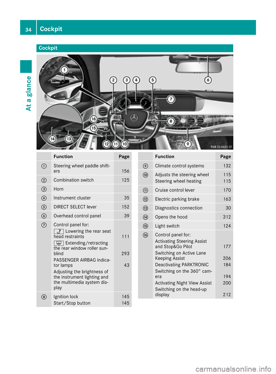 MERCEDES-BENZ S-Class MAYBACH 2017 W222 Owners Manual, Page 36