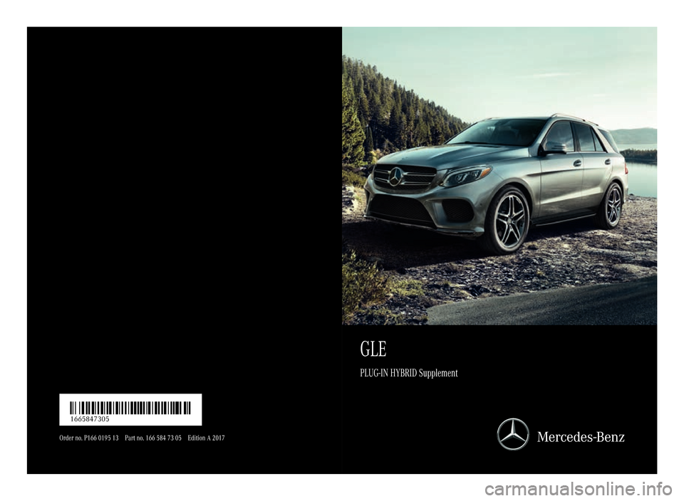 MERCEDES-BENZ GLE SUV HYBRID 2017 W166 Owners Manual, Page 1
