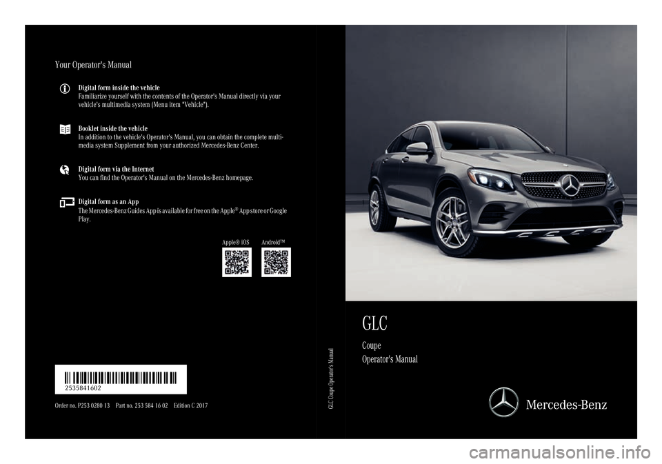 Mercedes benz glc coupe 2017 x253 owner 39 s manual for Mercedes benz online repair manual