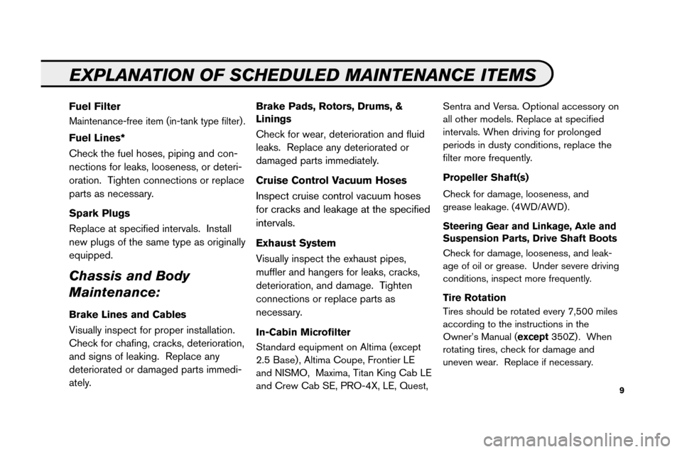 NISSAN ARMADA 2008 1.G Service And Maintenance Guide, Page 11