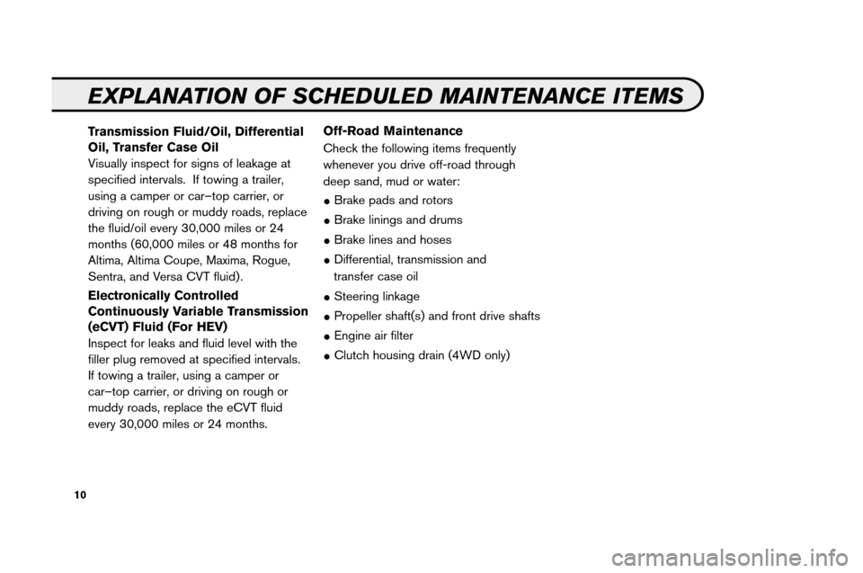 NISSAN ARMADA 2008 1.G Service And Maintenance Guide, Page 12