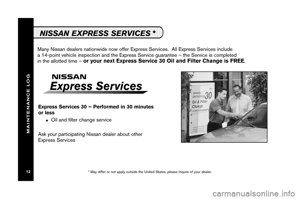 NISSAN ARMADA 2008 1.G Service And Maintenance Guide, Page 14