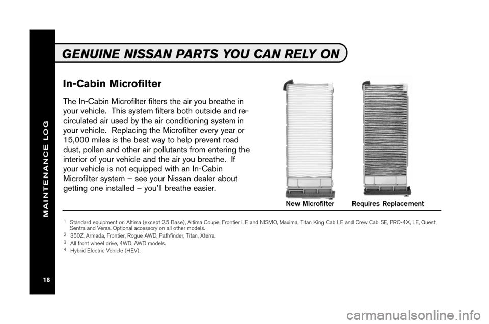 NISSAN ARMADA 2008 1.G Service And Maintenance Guide, Page 20