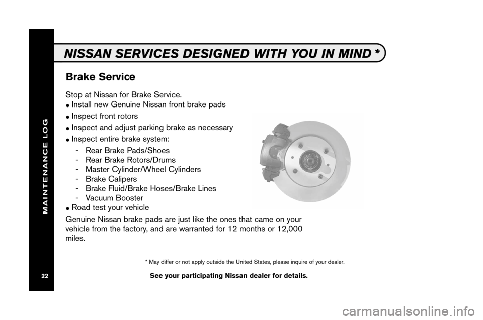 NISSAN XTERRA 2008 N50 / 2.G Service And Maintenance Guide, Page 24