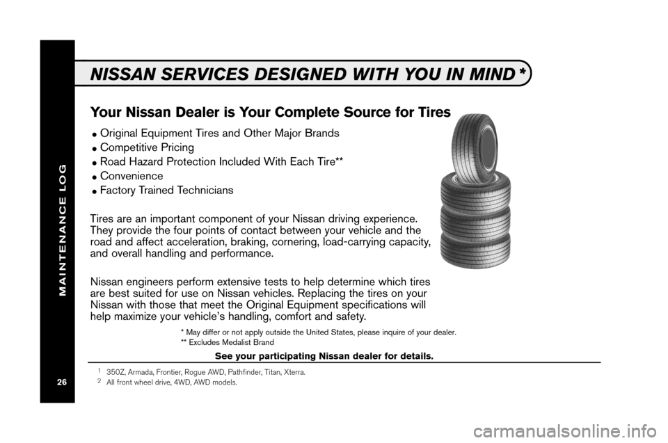 NISSAN XTERRA 2008 N50 / 2.G Service And Maintenance Guide, Page 28