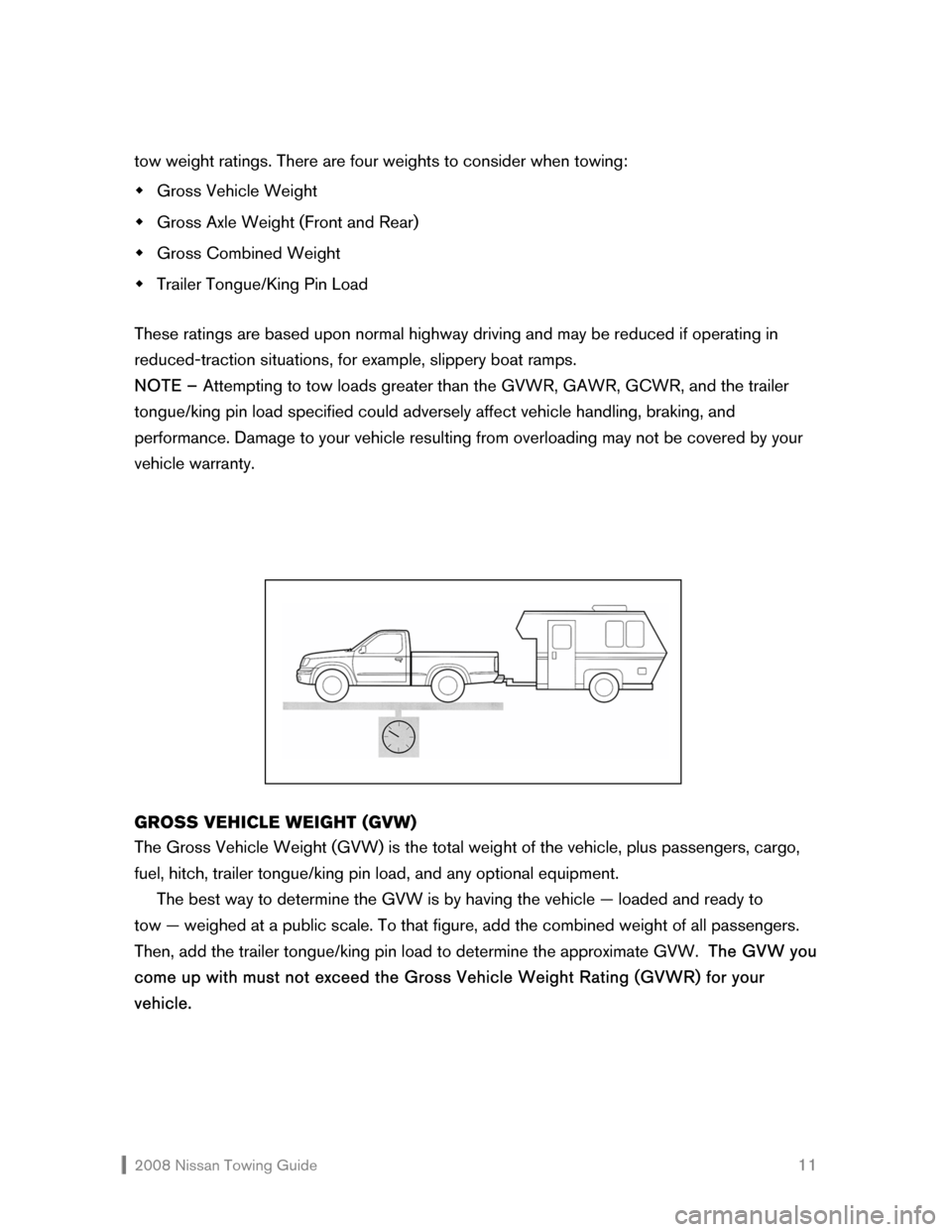 NISSAN ROGUE 2008 1.G Towing Guide, Page 12