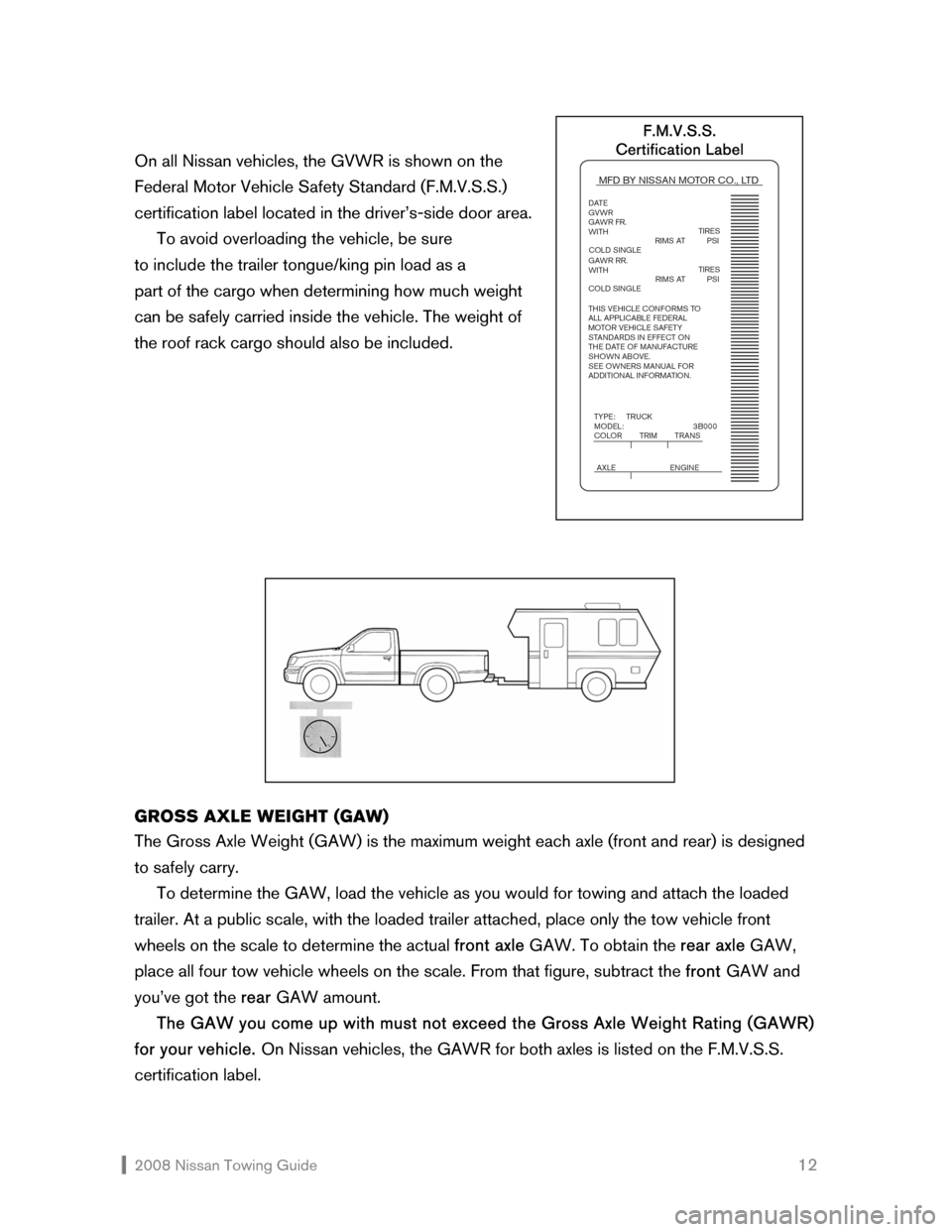 NISSAN ROGUE 2008 1.G Towing Guide, Page 13
