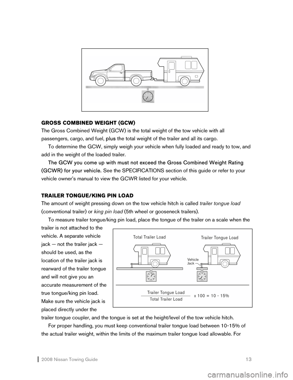 NISSAN ROGUE 2008 1.G Towing Guide, Page 14