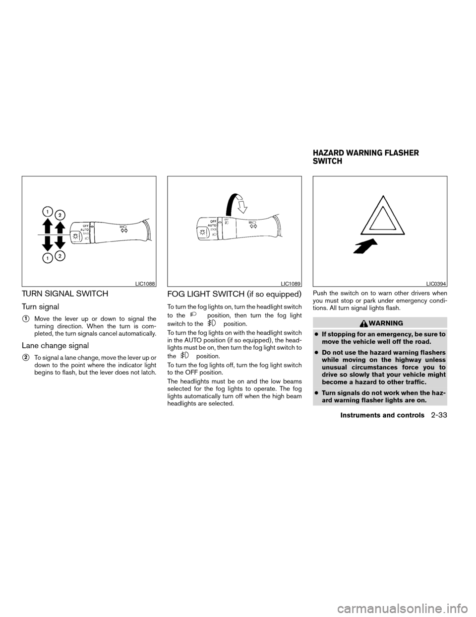 NISSAN ALTIMA COUPE 2009 D32 / 4.G Owners Manual, Page 111