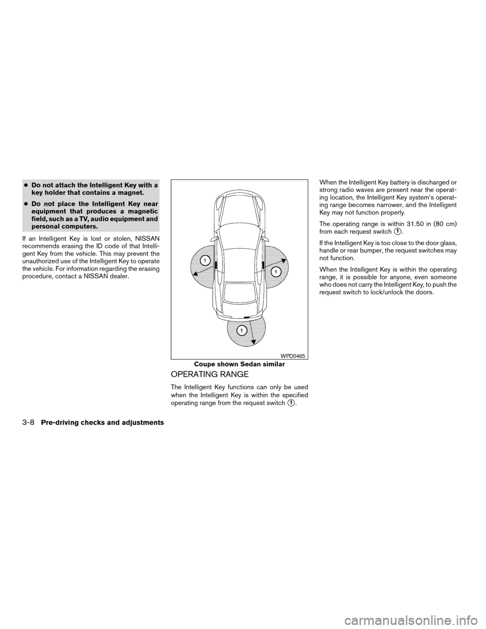 NISSAN ALTIMA COUPE 2009 D32 / 4.G Owners Manual, Page 140