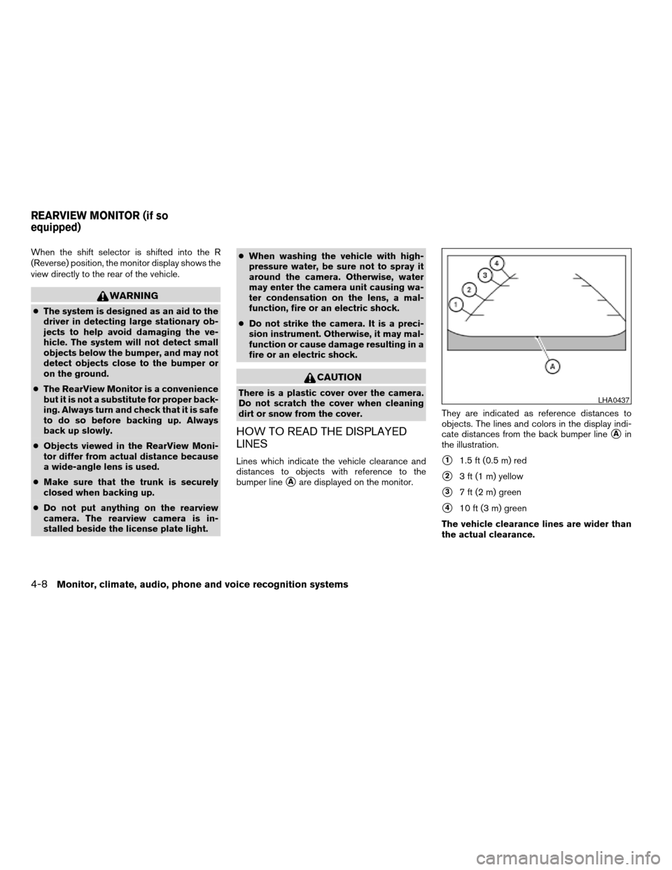 NISSAN ALTIMA COUPE 2009 D32 / 4.G Owners Manual, Page 172