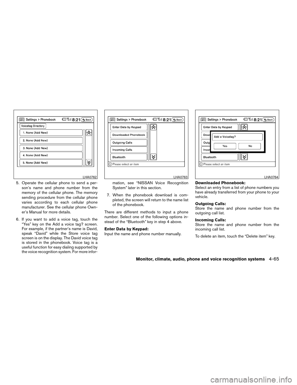NISSAN ALTIMA COUPE 2009 D32 / 4.G Owners Manual, Page 229