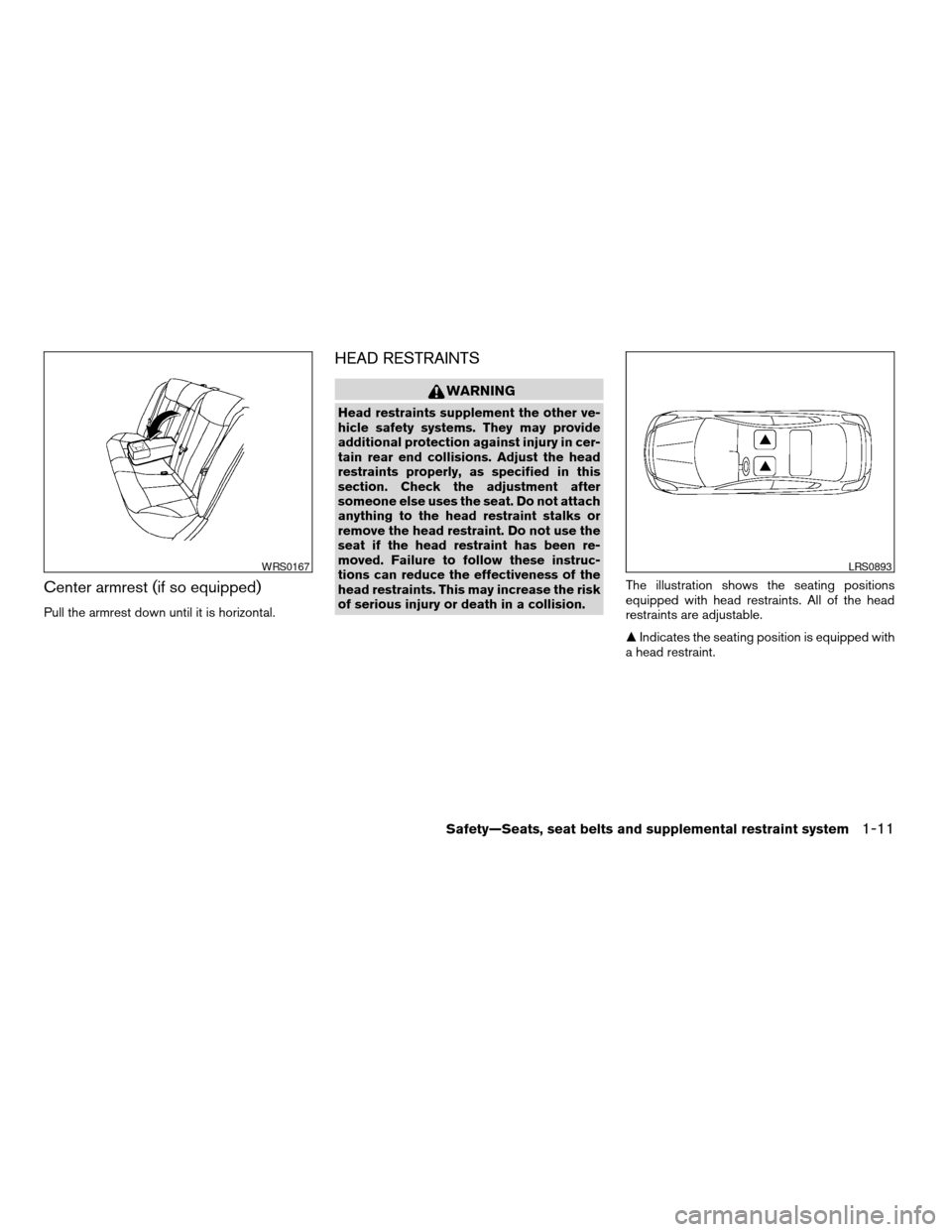 NISSAN ALTIMA COUPE 2009 D32 / 4.G Owners Manual, Page 29