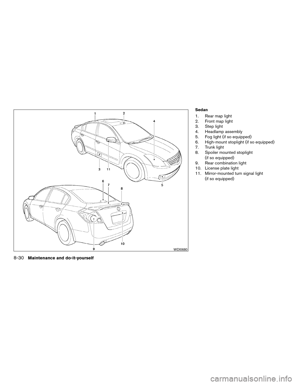 NISSAN ALTIMA COUPE 2009 D32 / 4.G Owners Manual, Page 320