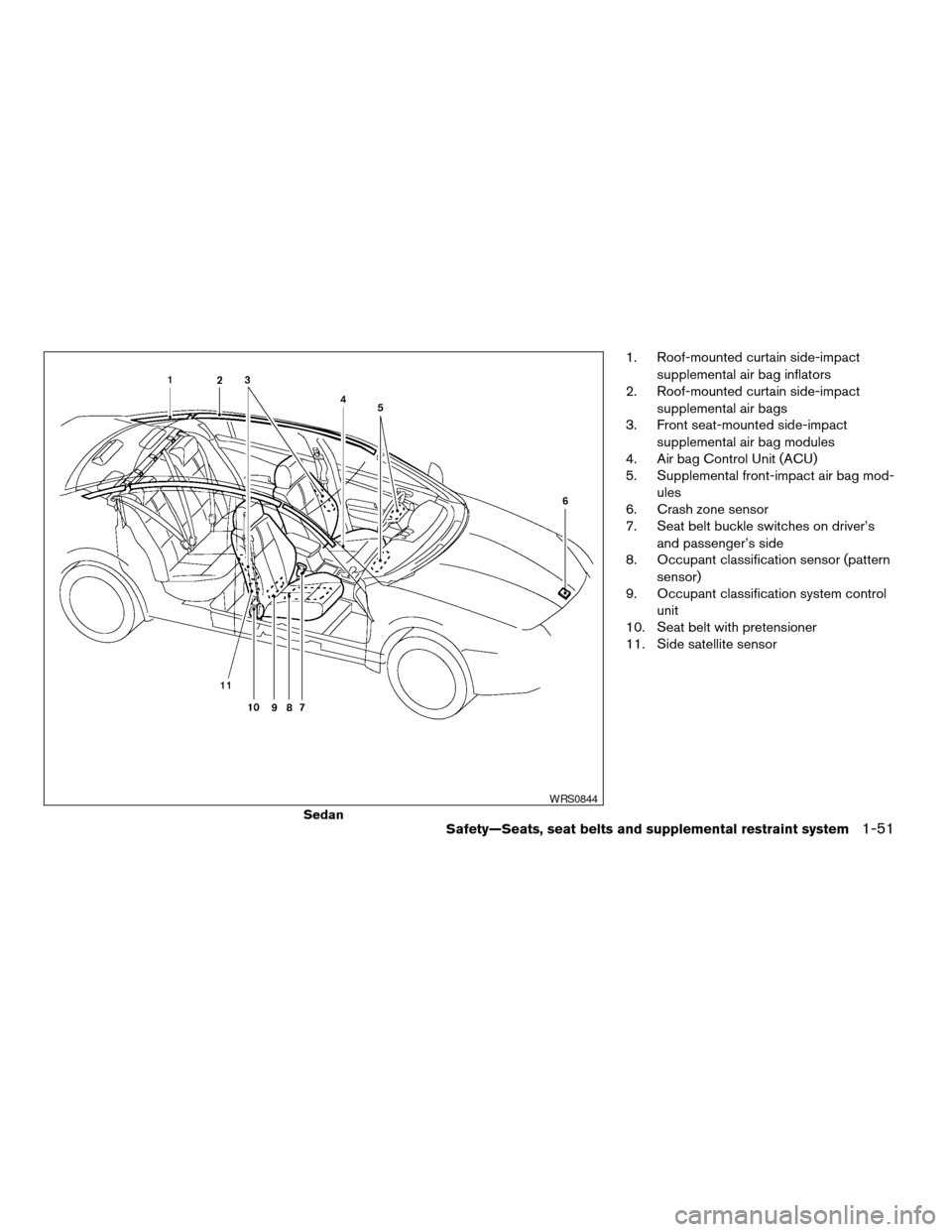 NISSAN ALTIMA COUPE 2009 D32 / 4.G Owners Manual, Page 69