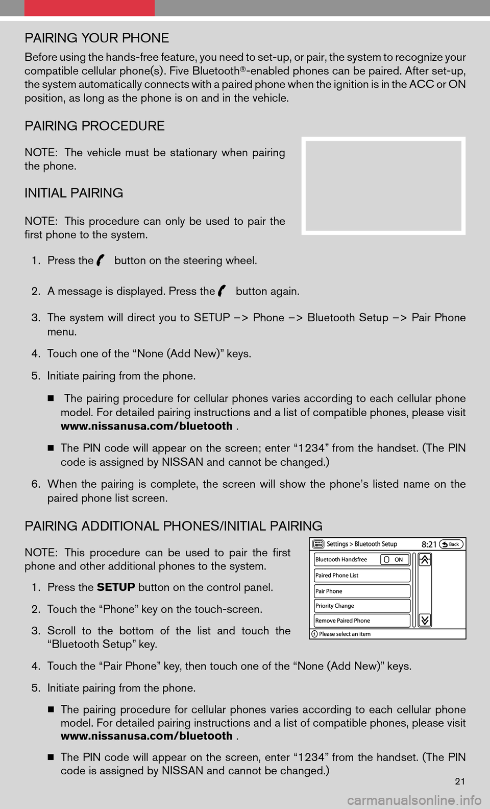NISSAN ALTIMA COUPE 2009 D32 / 4.G Quick Reference Guide, Page 23