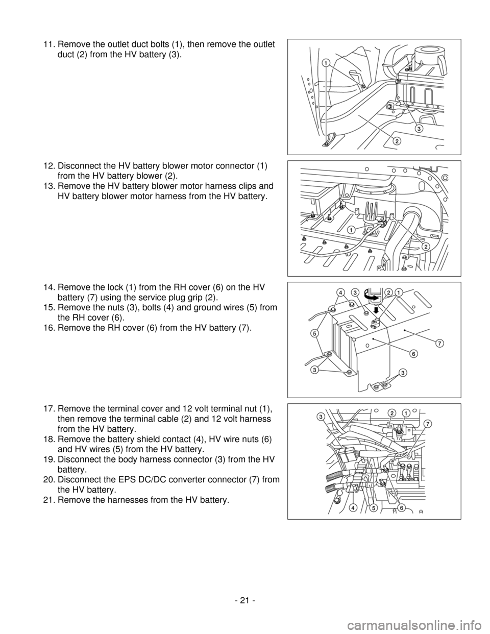 NISSAN ALTIMA HYBRID 2009 L32A / 4.G Dismantling Guide, Page 21