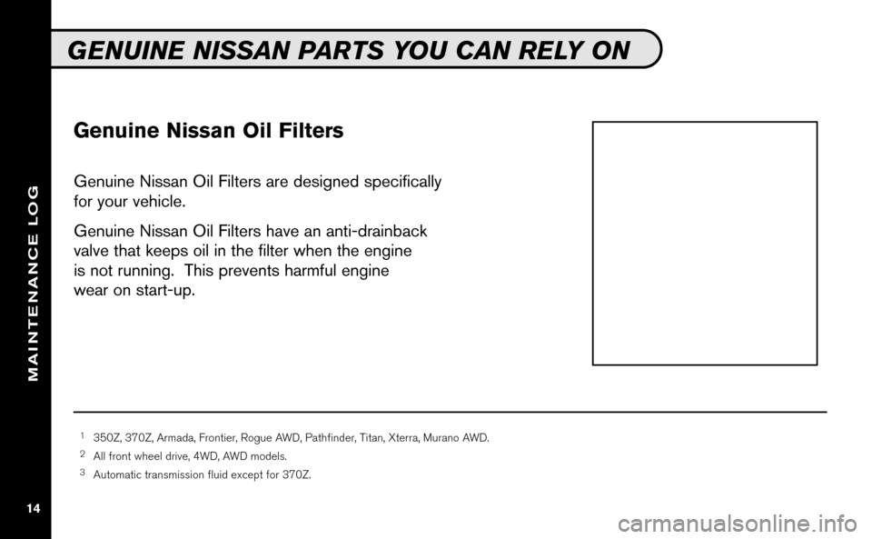 NISSAN VERSA HATCHBACK 2009 1.G Service And Maintenance Guide, Page 15