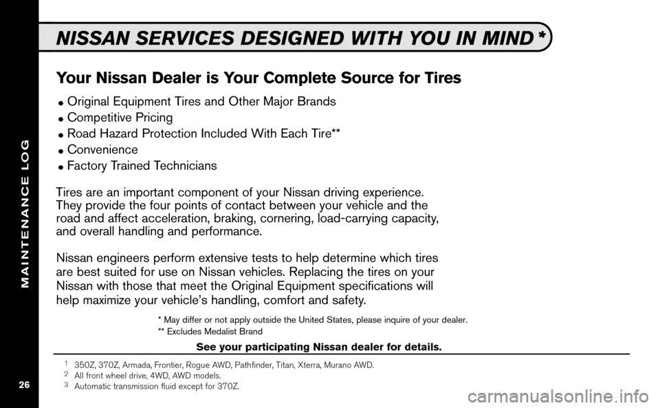 NISSAN ALTIMA COUPE 2009 D32 / 4.G Service And Maintenance Guide, Page 27