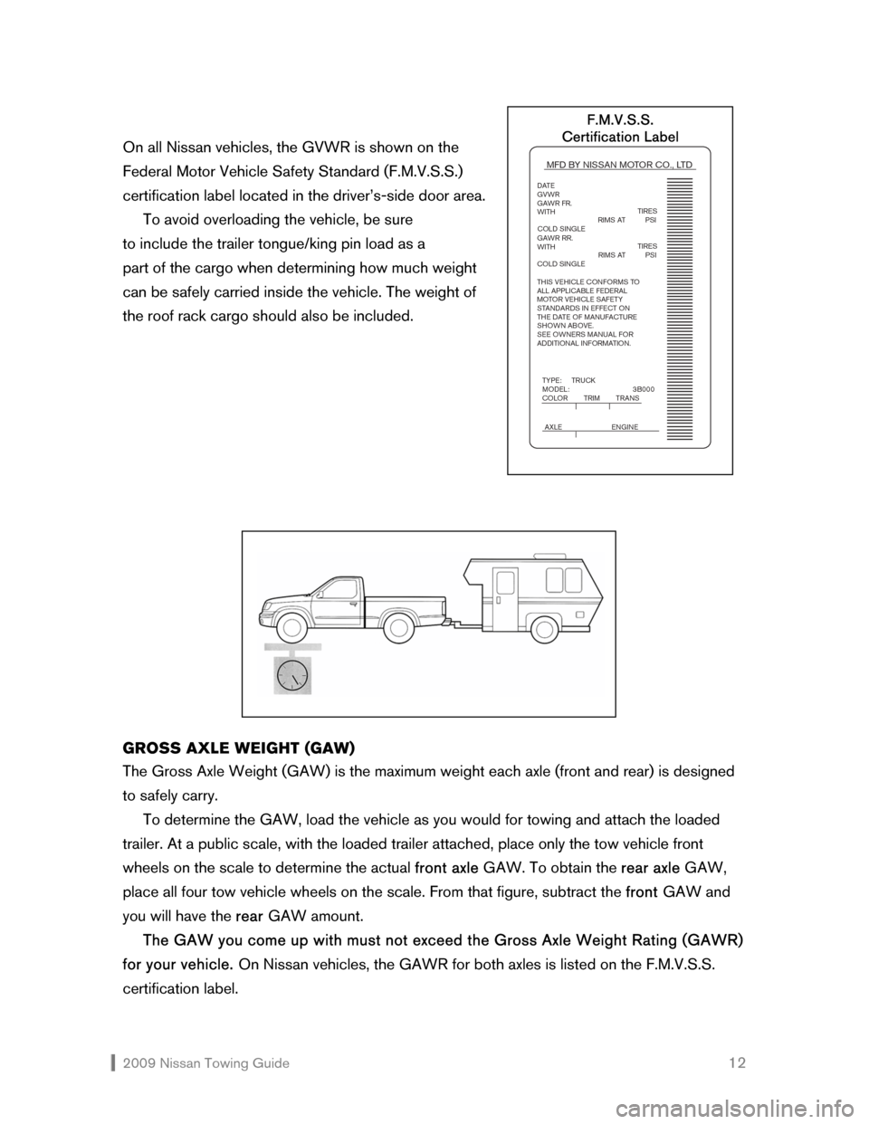 NISSAN ALTIMA COUPE 2009 D32 / 4.G Towing Guide, Page 13