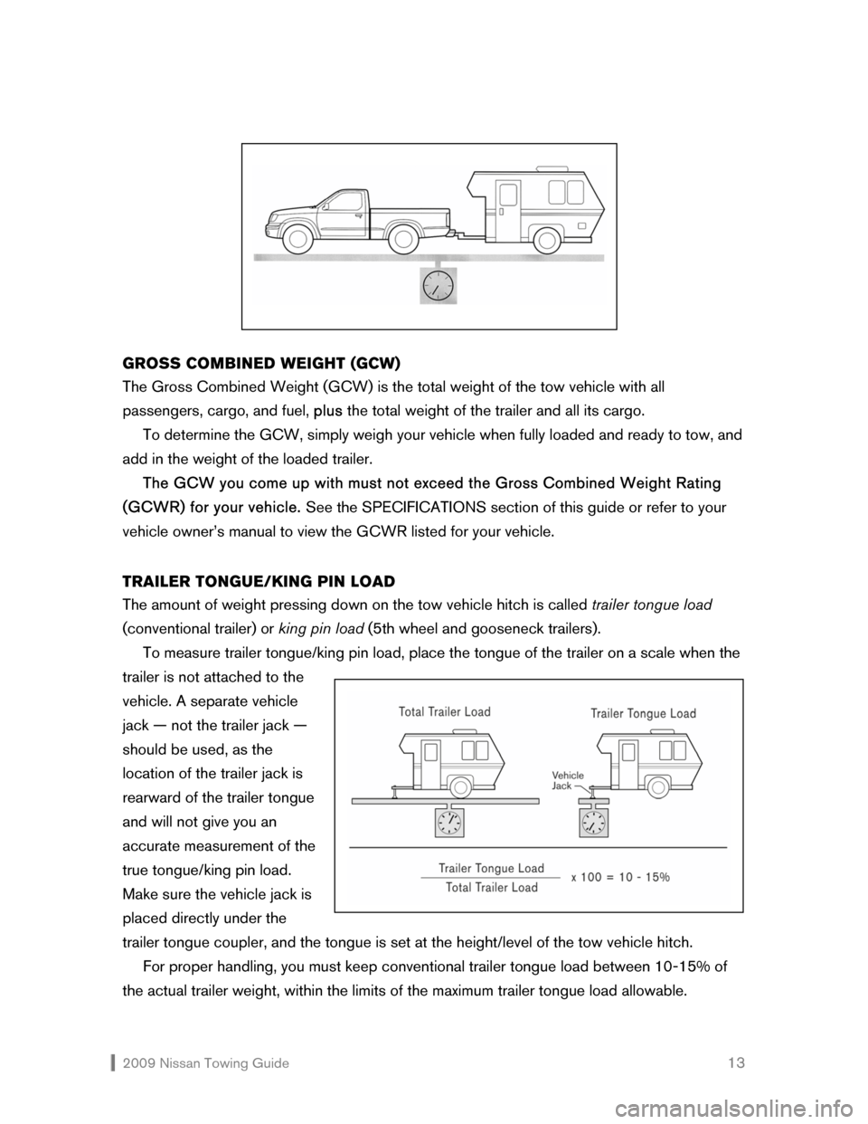 NISSAN VERSA HATCHBACK 2009 1.G Towing Guide, Page 14