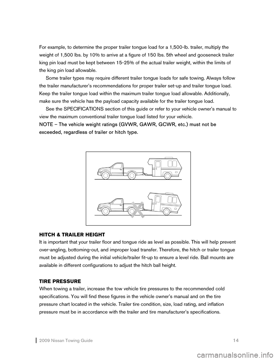 NISSAN VERSA HATCHBACK 2009 1.G Towing Guide, Page 15