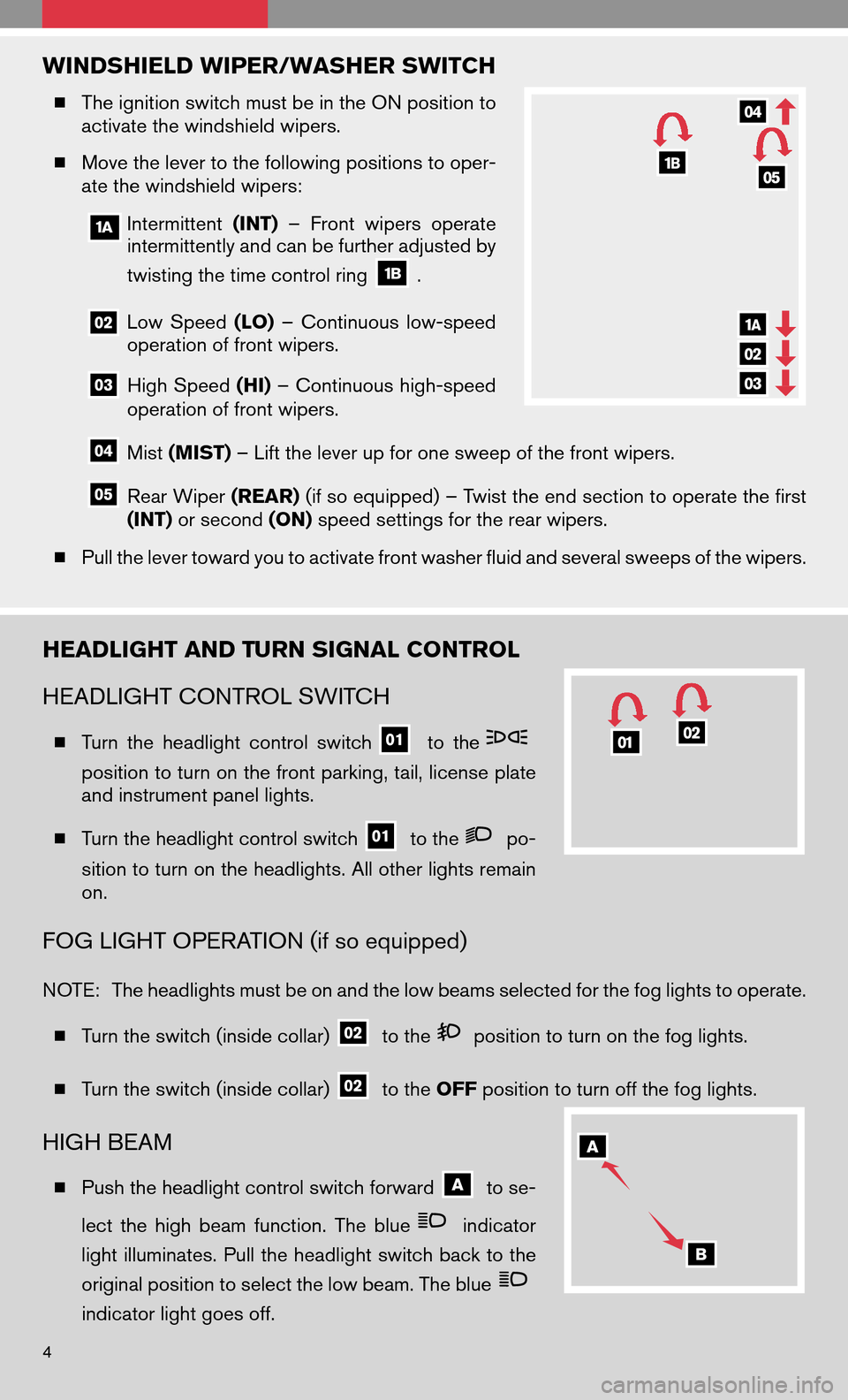 NISSAN VERSA HATCHBACK 2009 1.G Quick Reference Guide, Page 6