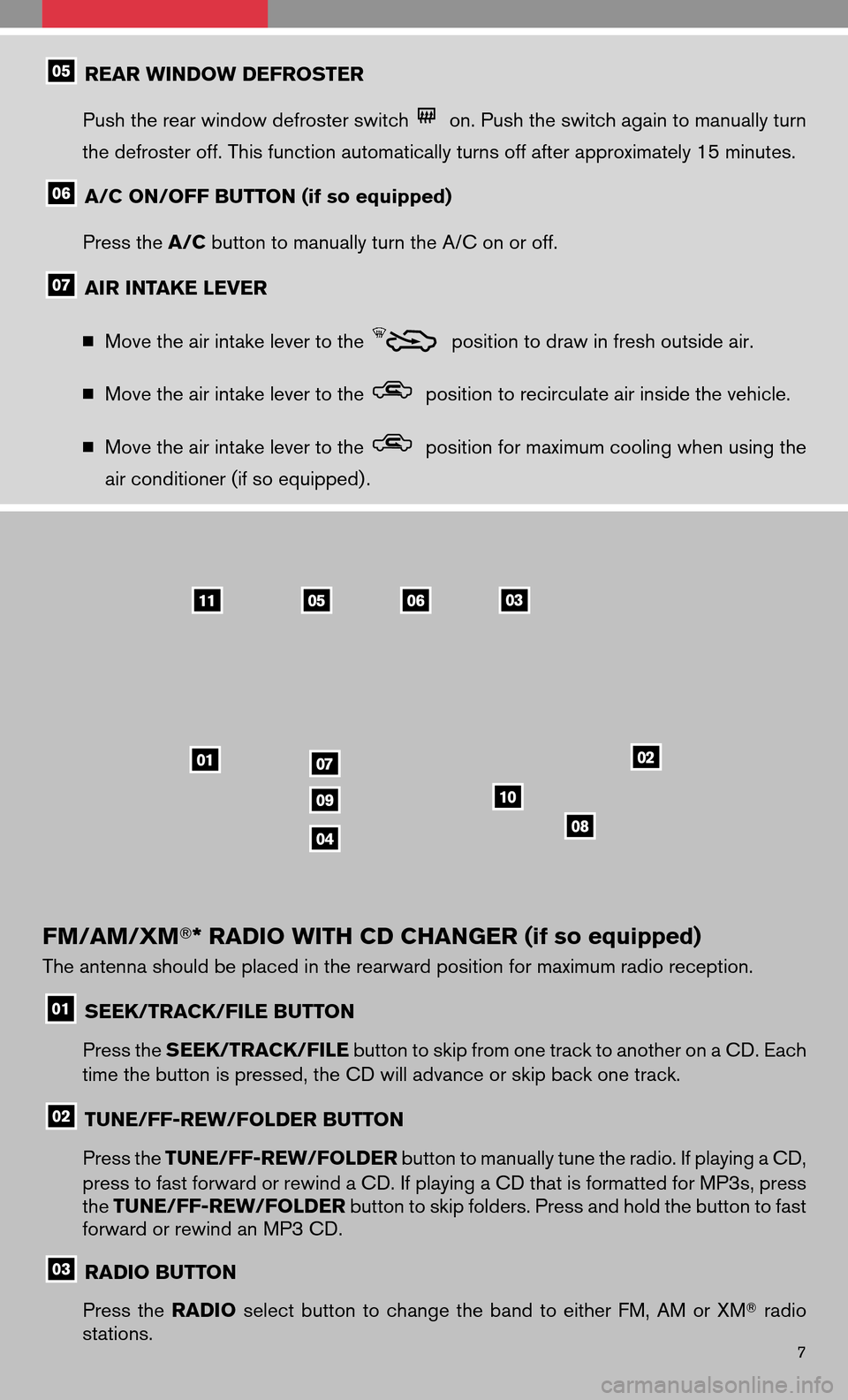 NISSAN VERSA HATCHBACK 2009 1.G Quick Reference Guide, Page 9