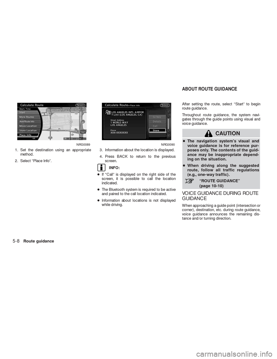 NISSAN ALTIMA COUPE 2010 D32 / 4.G Navigation Manual, Page 113