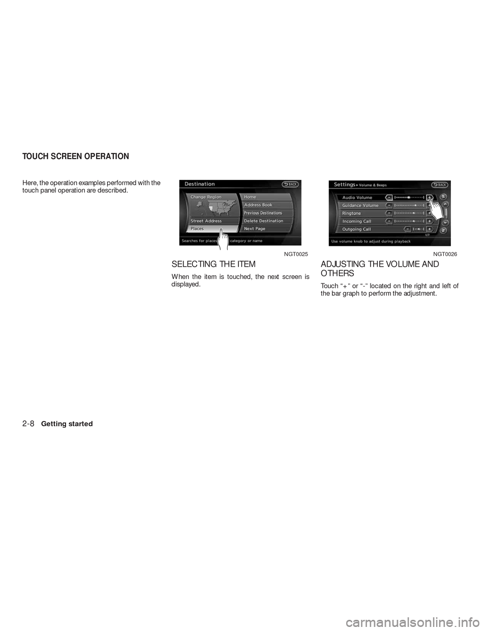 NISSAN ALTIMA COUPE 2010 D32 / 4.G Navigation Manual, Page 15