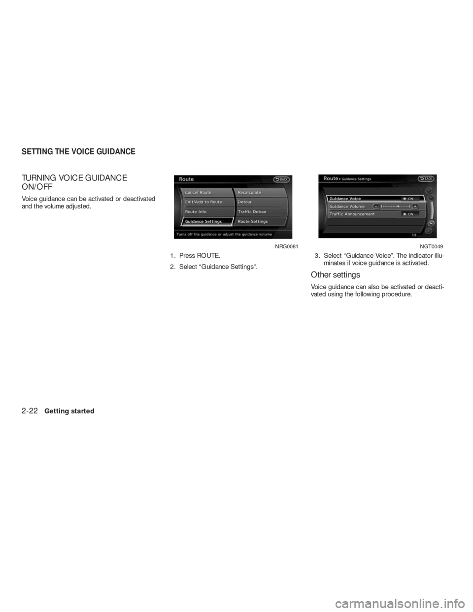 NISSAN ALTIMA COUPE 2010 D32 / 4.G Navigation Manual, Page 29