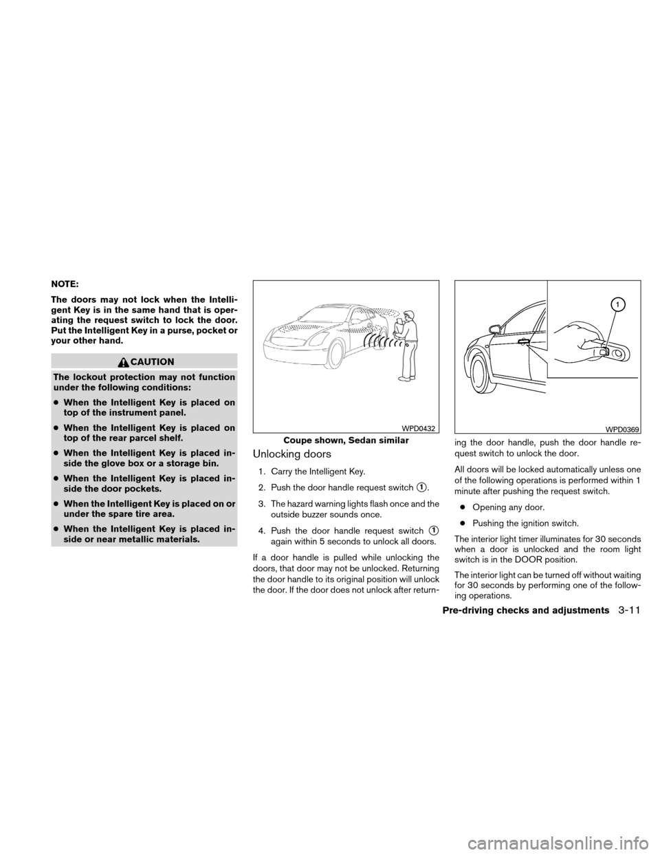 NISSAN ALTIMA COUPE 2010 D32 / 4.G Owners Manual, Page 142