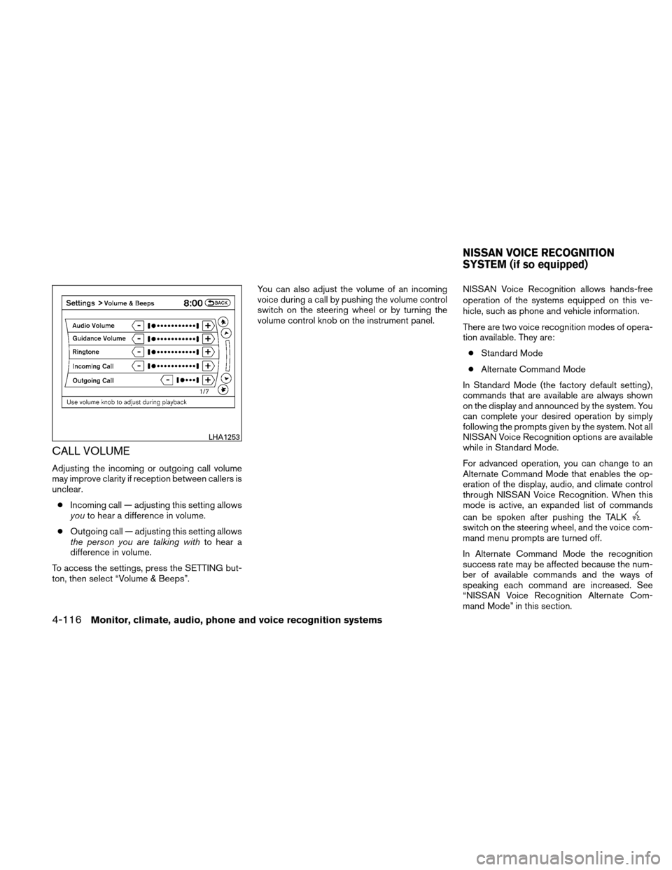 NISSAN ALTIMA COUPE 2010 D32 / 4.G Owners Manual, Page 279