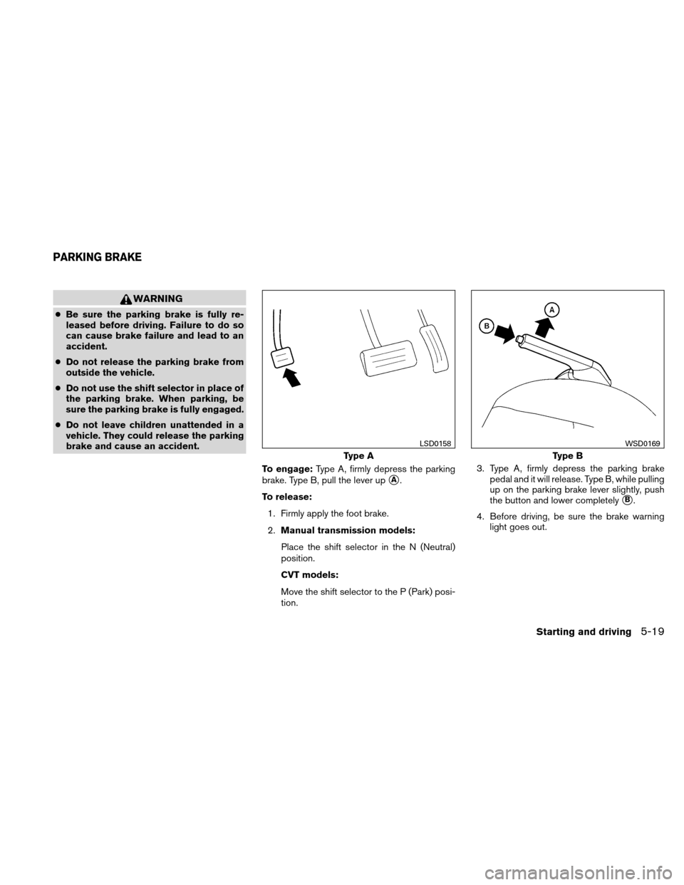 NISSAN ALTIMA COUPE 2010 D32 / 4.G Owners Manual, Page 322