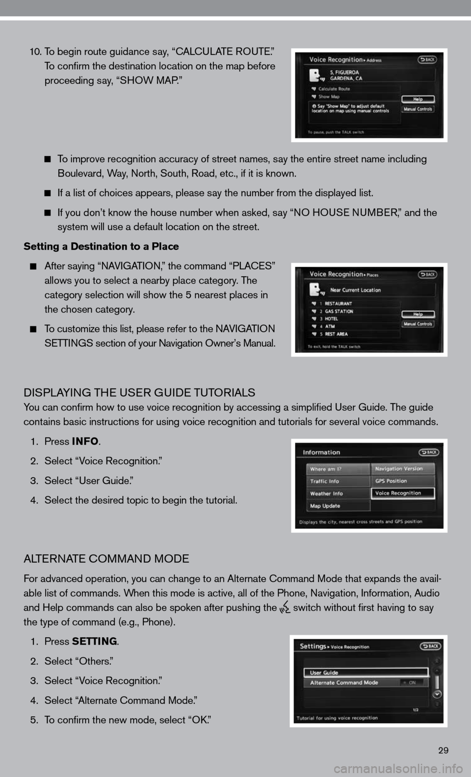 NISSAN ALTIMA COUPE 2010 D32 / 4.G Quick Reference Guide, Page 31