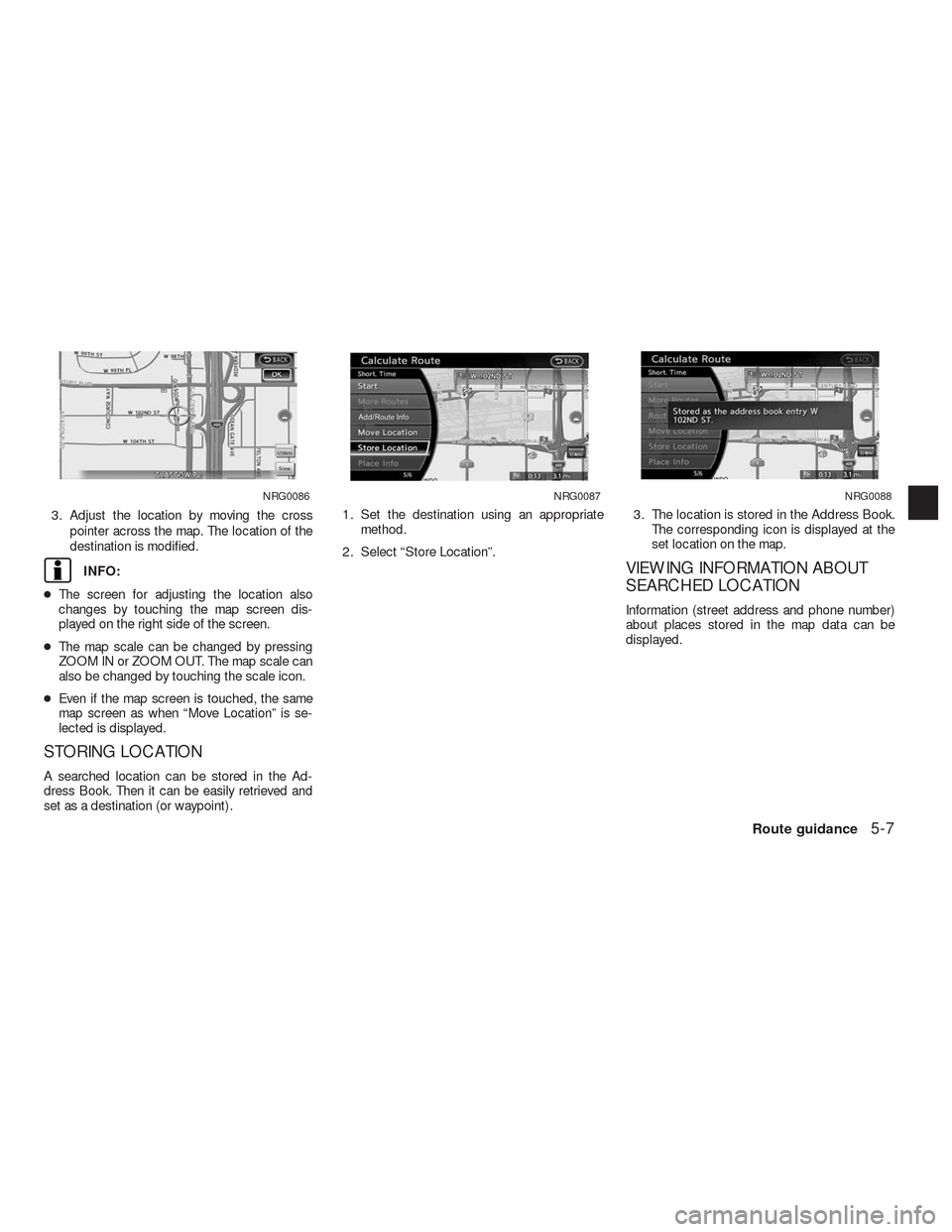 NISSAN ALTIMA HYBRID 2010 L32A / 4.G Navigation Manual, Page 112