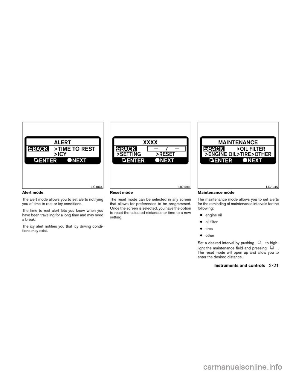 NISSAN ALTIMA HYBRID 2010 L32A / 4.G Owners Manual, Page 102