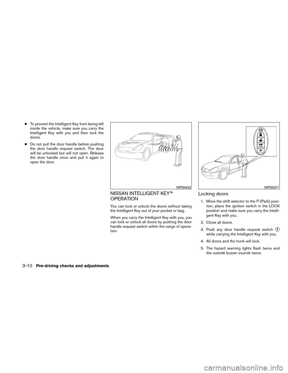 NISSAN ALTIMA HYBRID 2010 L32A / 4.G Owners Manual, Page 141