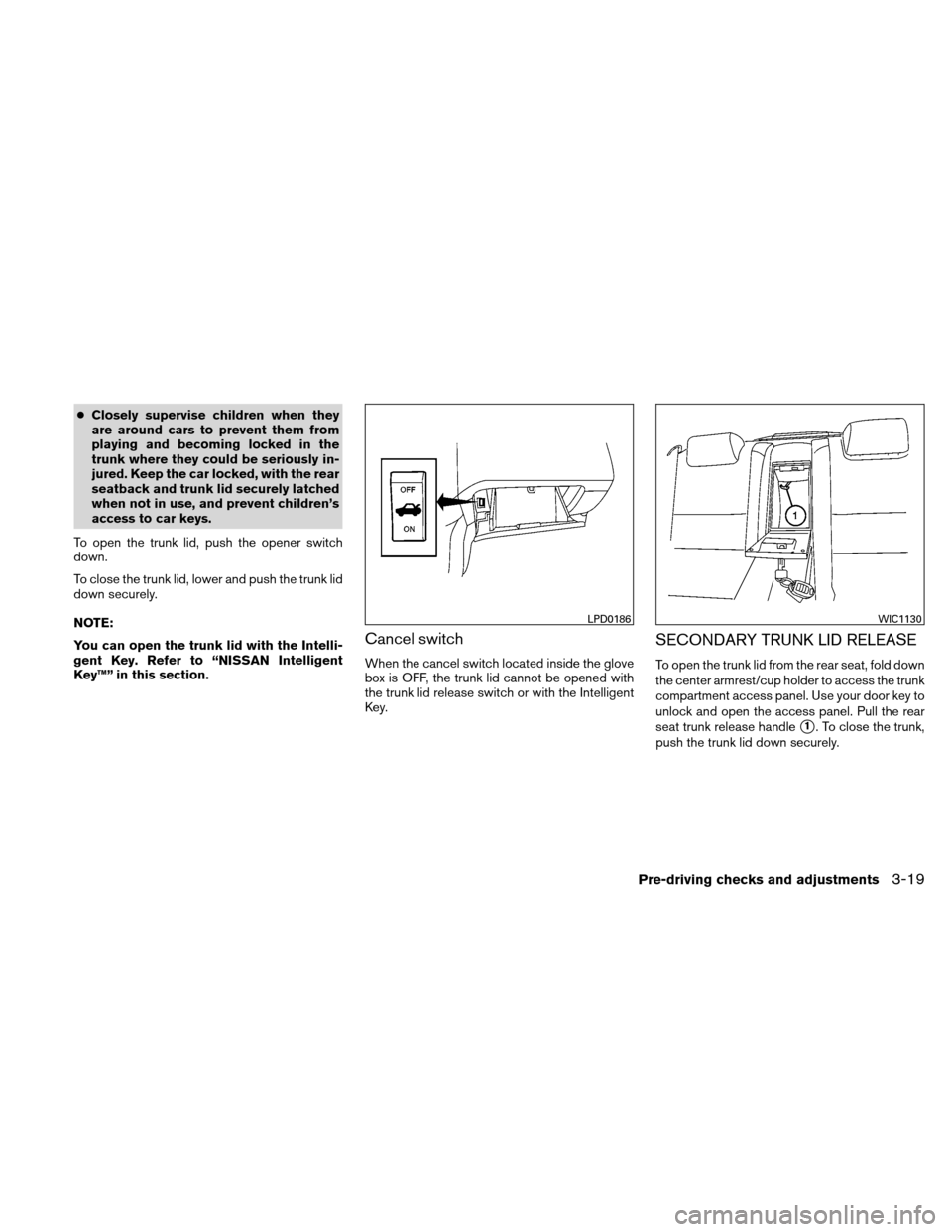NISSAN ALTIMA HYBRID 2010 L32A / 4.G Owners Manual, Page 150