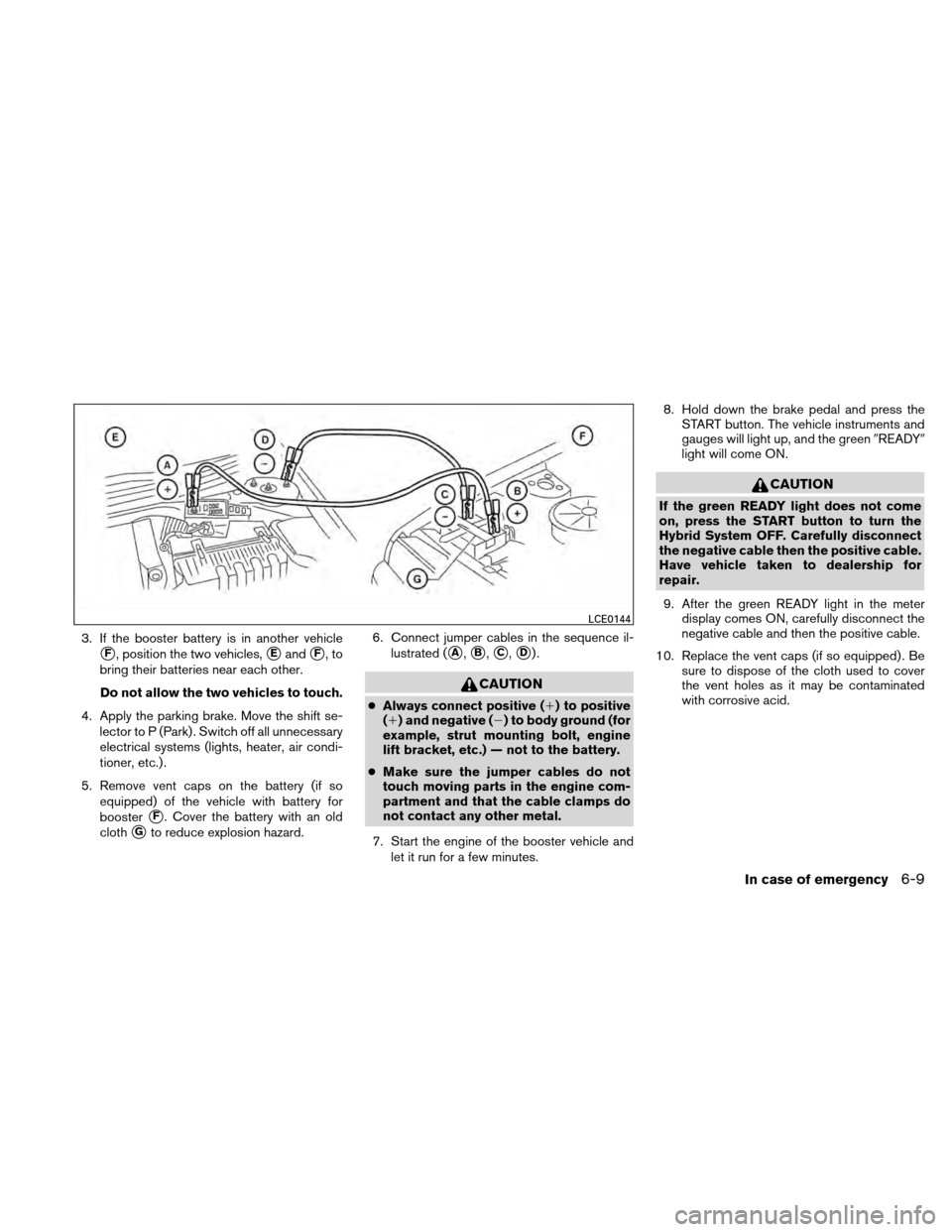 NISSAN ALTIMA HYBRID 2010 L32A / 4.G Owners Manual, Page 330
