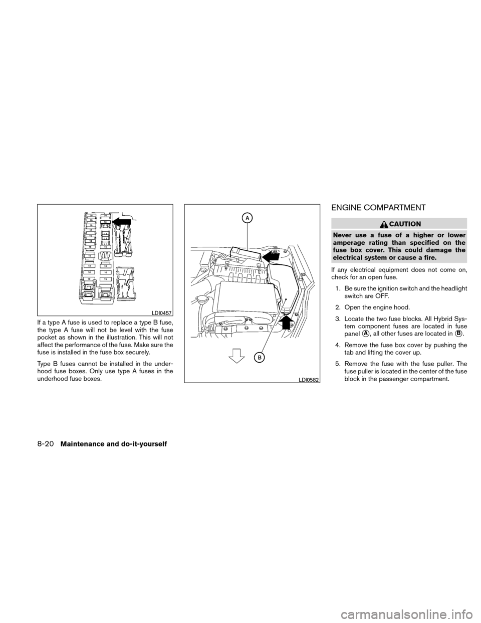 NISSAN ALTIMA HYBRID 2010 L32A / 4.G Owners Manual, Page 363