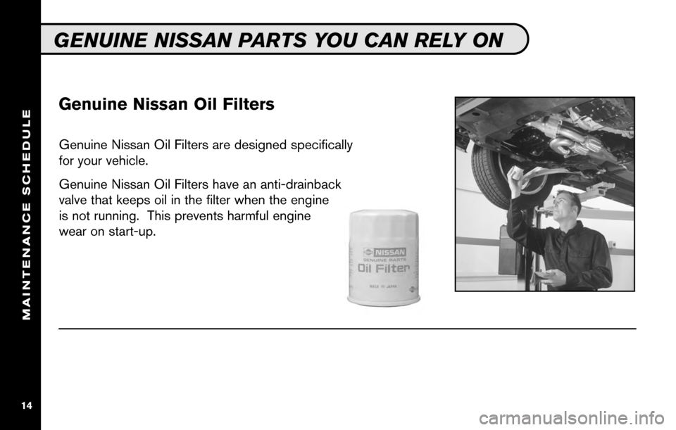 NISSAN SENTRA 2010 B17 / 7.G Service And Maintenance Guide, Page 16