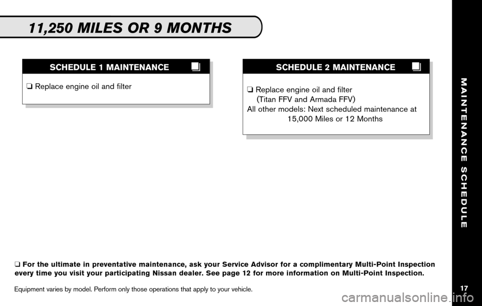 NISSAN SENTRA 2010 B17 / 7.G Service And Maintenance Guide, Page 19