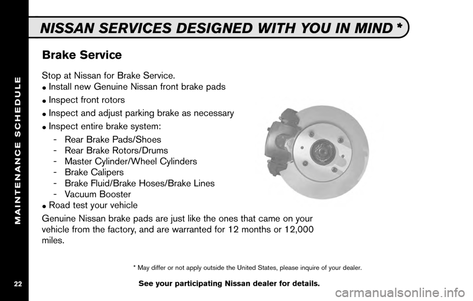 NISSAN SENTRA 2010 B17 / 7.G Service And Maintenance Guide, Page 24