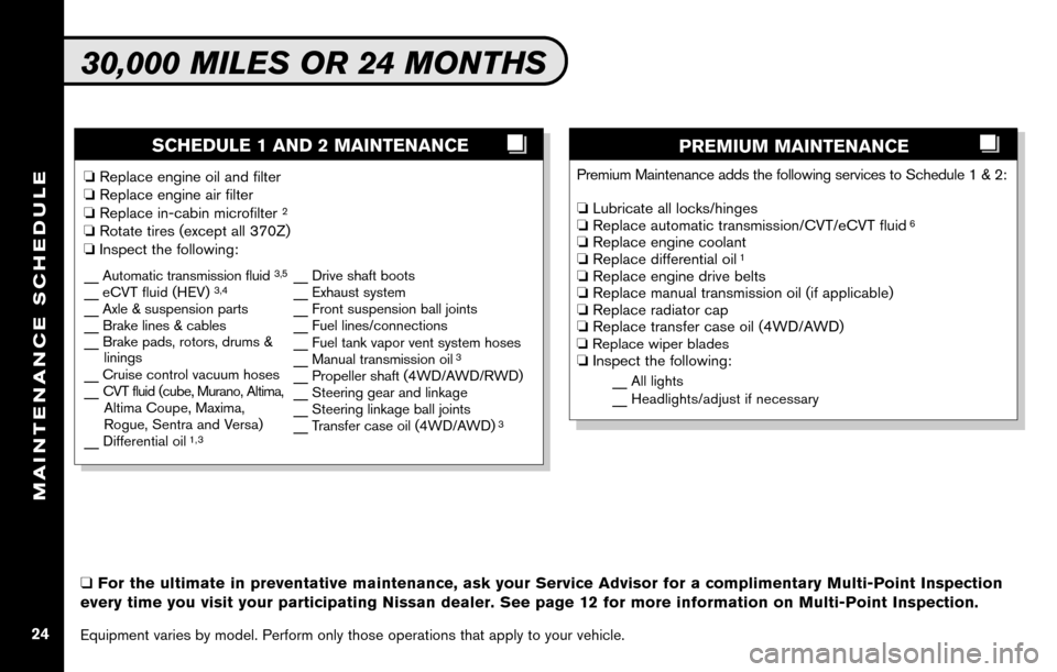 NISSAN SENTRA 2010 B17 / 7.G Service And Maintenance Guide, Page 26